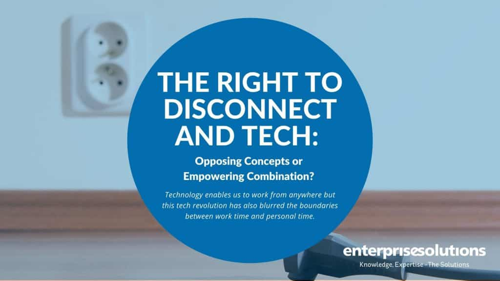 The Right to Disconnect and Tech